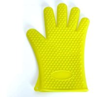 1Pcs Glove Kitchen Heat Resistant Silicone Dotted Glove Oven Pot Holder BBQ Cooking Mitts Kitchen Baking Accessories Green