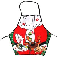 Christmas Apron Xmas Decoration Kitchen Aprons Adults Women And Men Polyester Party Cooking Apron Kitchen Accessories