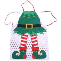 Christmas Aprons Personality Xmas Decoration Apron Christmas Santa Anime Cartoon Cooking Apron Kitchen Accessories For Men Women
