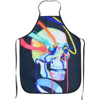 Colorful Skull Sleeveless Adult Polyester Apron Kitchen Cooking Dress