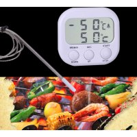 Top Quality 2 In1 Digital LCD Thermometer For BBQ Grill Kitchen Oven Food Cooking Useful Household Temperature Detector Tool