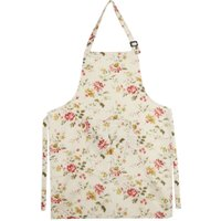 Women Lady Dress Restaurant Home Kitchen Cooking Cotton Apron Bib Floral Pattern